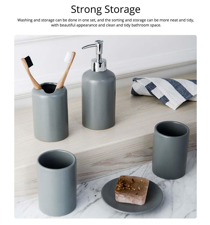 Five-piece Bathroom Set, Porcelain Bathroom Accessory Set, Bathroom Products Shower Gift Box 4