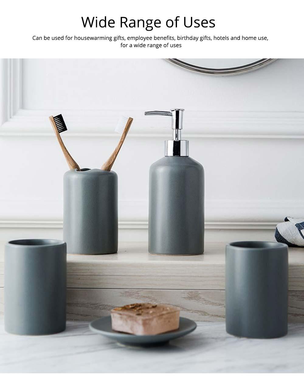 Five-piece Bathroom Set, Porcelain Bathroom Accessory Set, Bathroom Products Shower Gift Box 5