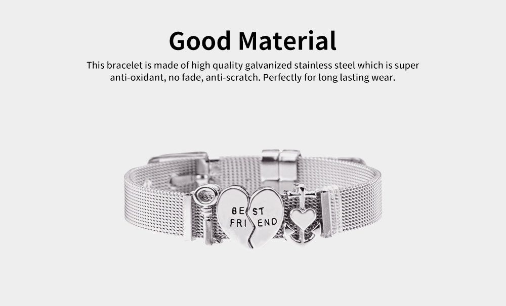 Simple Lettering Plated Stainless Steel  Bracelet, Elegant Relationship Bangle Mother's Day Valentine's Day Gifts 2