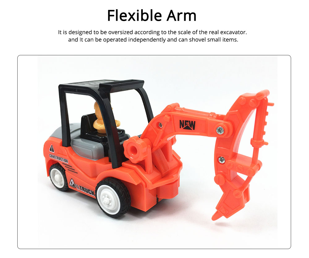 Construction Vehicle Toy Car, Mini Toy Excavator, Simulation Engineering Truck, Children's Toy Bulldozer 1