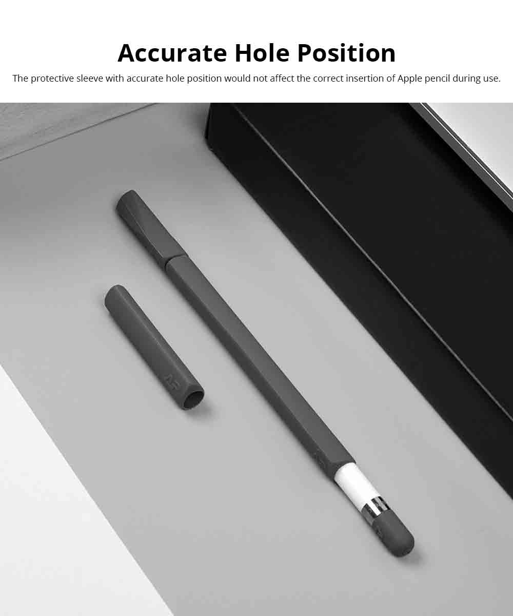 Apple iPad Pencil 4 PCS Protective Sleeve Case Holder, Luxury Ultra-soft Smooth Silicone Pen Full Case for Apple Pencil 3