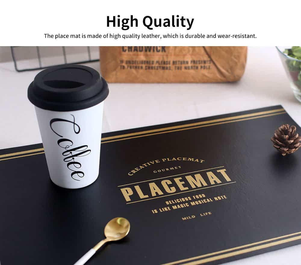 Northern Europe Style Placemat for Dining Table Heat Resistant Kitchen Table Mats Eat Meal Mat 6 Colors 1