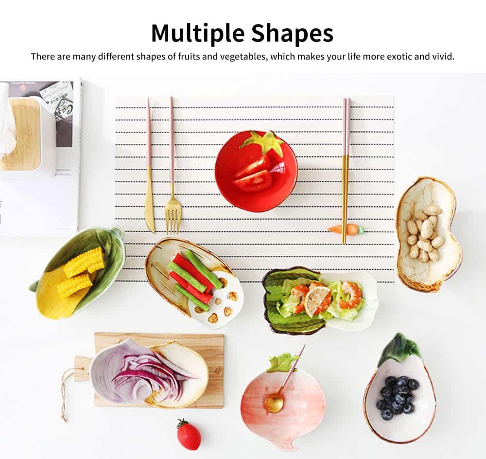 Ceramic Snack Bowl Creative Vegetable Shape Fruit Salad Dessert Bowl for Baby Assisted Food Bowl 5