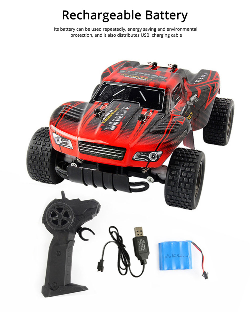 Wireless Remote Control Car, Electric Child Simulation Climbing Remote Control Car, Charging Wireless Toy Car 4