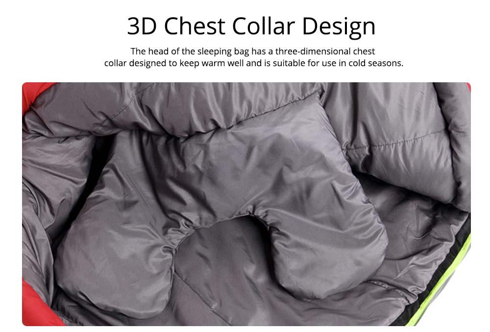 Mummy Splicing Sleeping Bag 3D Thicken Cotton Warm Sleeping Bag for outdoor camping Hiking Winner Autumn 3