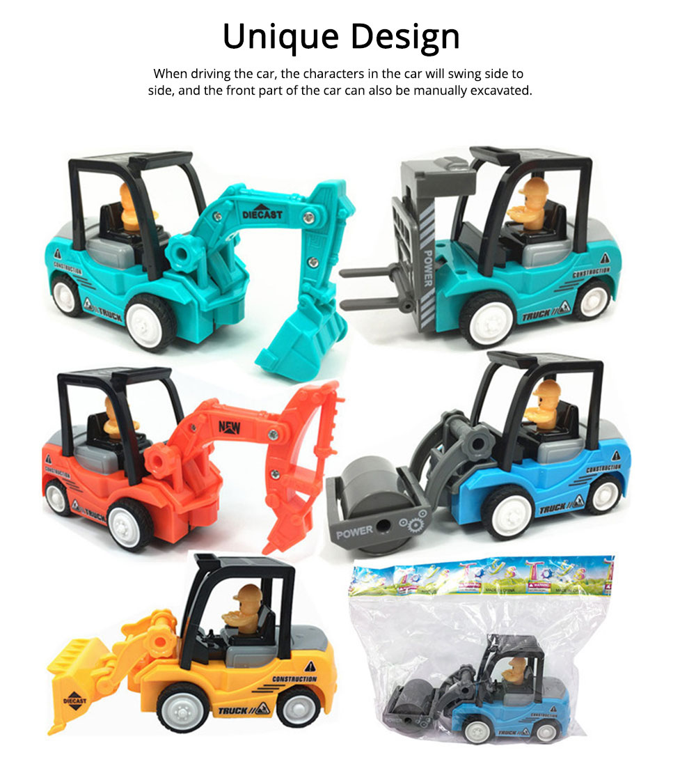 Construction Vehicle Toy Car, Mini Toy Excavator, Simulation Engineering Truck, Children's Toy Bulldozer 5