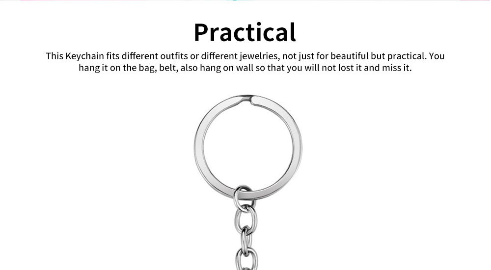 Fashionable Simple Keychain Plated Stainless Steel Pendant Key Ring Diamond Fashion Accessories Thanksgiving Gift For Teacher Instructor 3