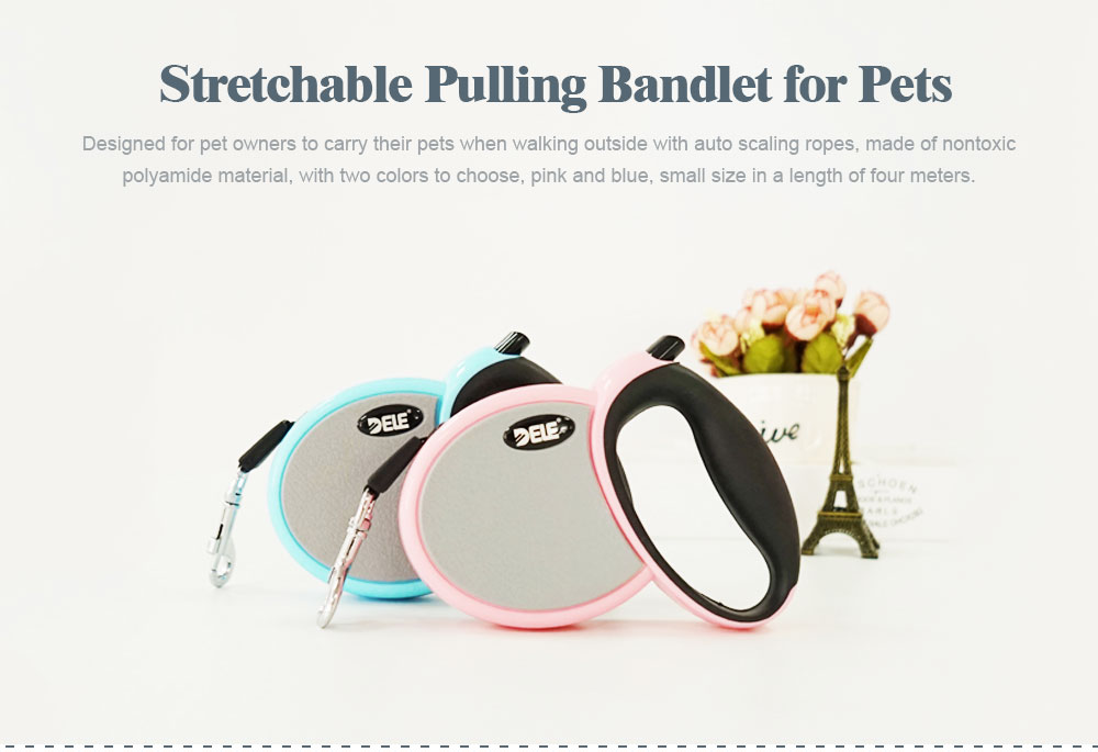 Hauling Cable for Pets, Innoxious and Stretchable Small-sized Polyamide Tow Rope, Auto Scaling Pulling Bandlet 0