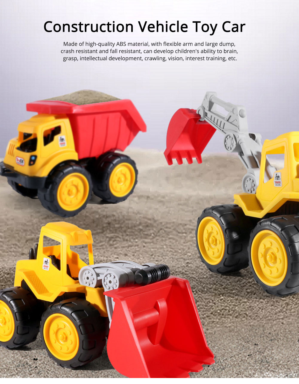 Children Toy Car Simulation Engineering Truck, Construction Vehicle Toy Car, Children's Toy Bulldozer 0