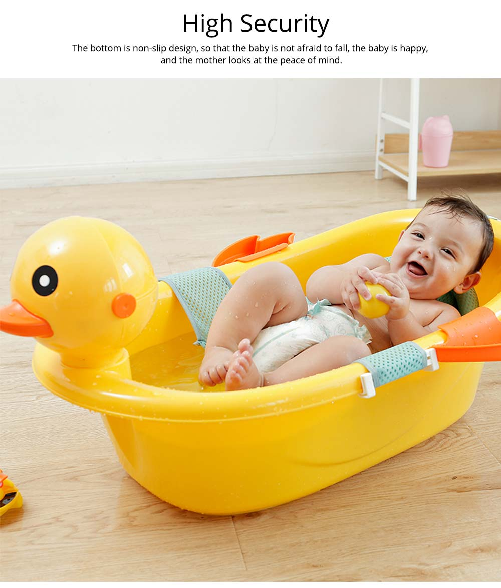 Baby Temperature Bath Tub, Can Sit and Lie Cartoon Yellow Duck Baby Tub 2