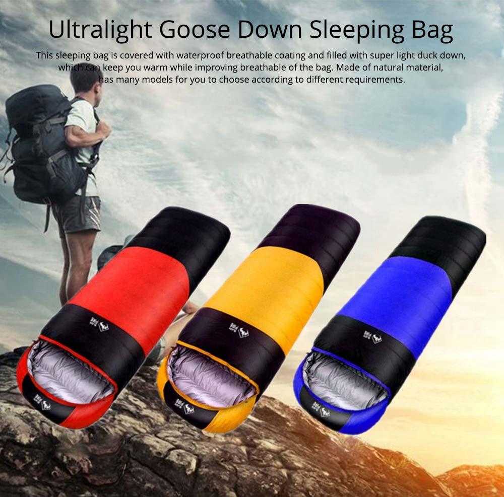 Black Fire Outdoor Ultralight Waterproof Goose Down Sleeping Bag Envelope Warm Durable Sleeping Bag for Adult Camping Hiking 0