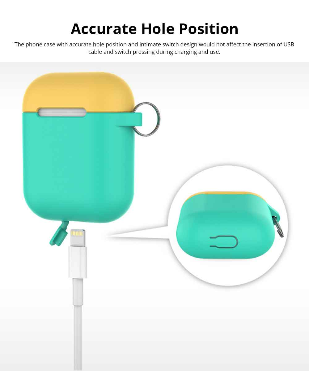 Free Collocation Silicone Carrying Case Cover For Airpods, Shockproof Smooth Skin Charging Sleeve Pouch Box 3