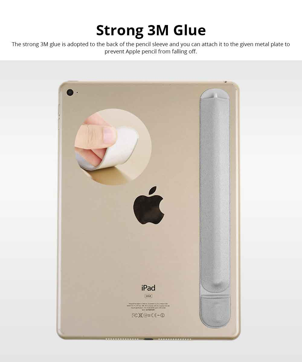Elastic Fabric Apple Pencil Protective Sleeve with 3M Glue, Minimalist Soft Case Cover Cover Sleeve Pouch Holder 5