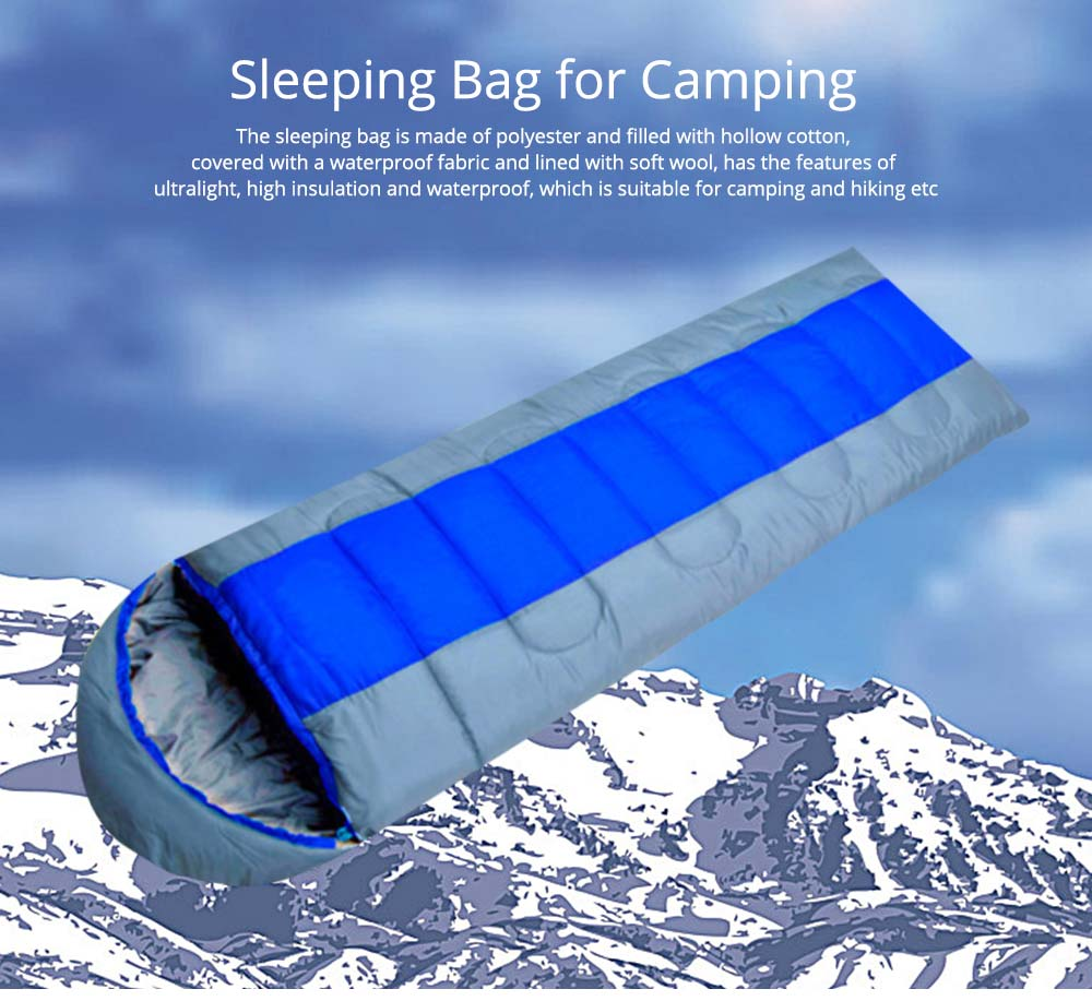 Polar Envelope Sleeping Bag for Outdoor Camping Hiking, Ultra Warm Double Sleeping Bag 0