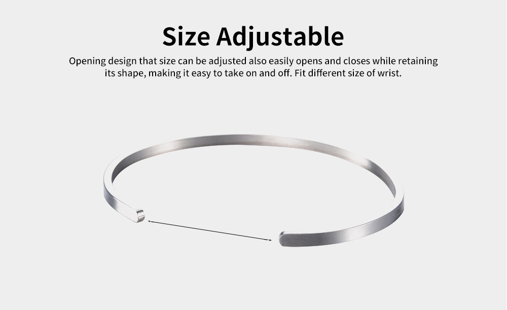 Unisex Opening Bracelets Simple Lettering Plated Stainless Steel Bangle Fashion Jewelry Accessories Personality Gifts 2