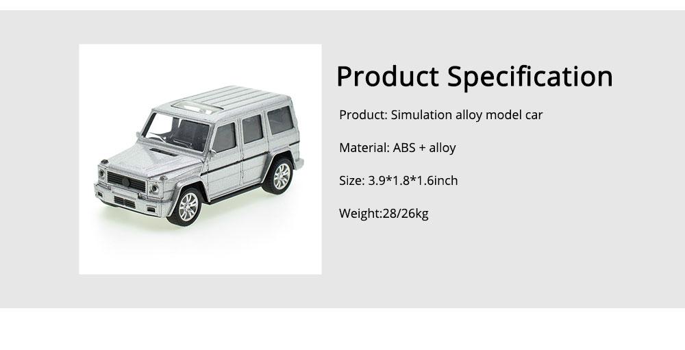 Simulation Alloy Model Car, Mercedes-Benz Off-road Vehicle Model, Children Pull-back Car Toy Model Car 5
