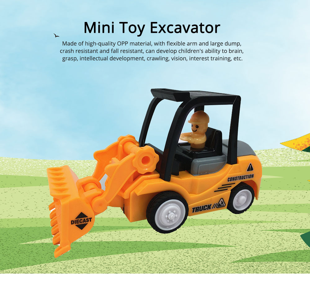 Construction Vehicle Toy Car, Mini Toy Excavator, Simulation Engineering Truck, Children's Toy Bulldozer 0