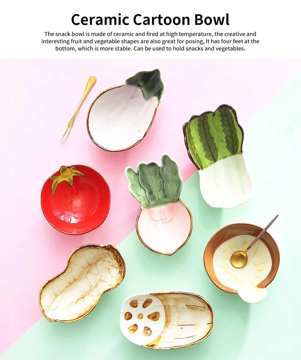 Ceramic Snack Bowl Creative Vegetable Shape Fruit Salad Dessert Bowl for Baby Assisted Food Bowl 0