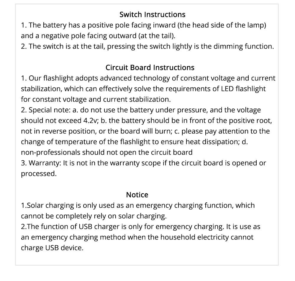 New Solar Flashlight LED Lithium Battery T6 Strong Light Emergency Hammer USB Rechargeable Aluminum Alloy Flashlight for Escaping 7