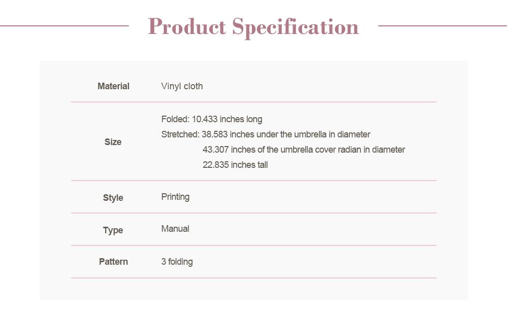 UV-proof Cartoon Umbrella for Both Sun and Rain, Creative 3 Folding Umbrella Allows for Customization 5