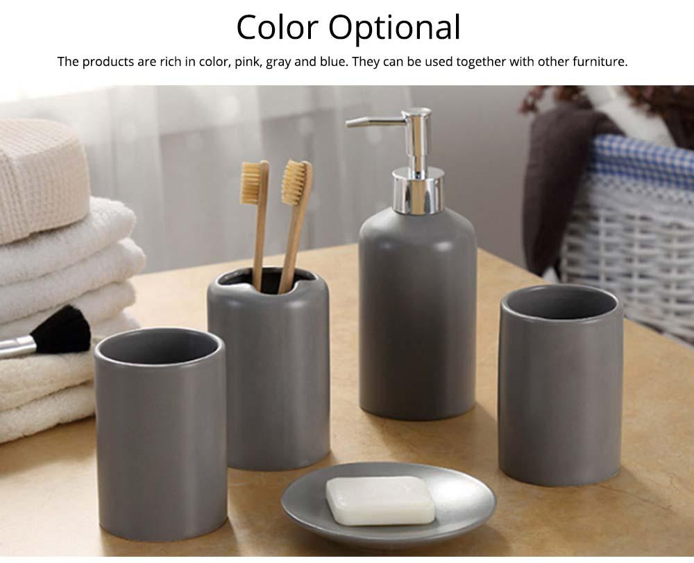 Five-piece Bathroom Set, Porcelain Bathroom Accessory Set, Bathroom Products Shower Gift Box 2