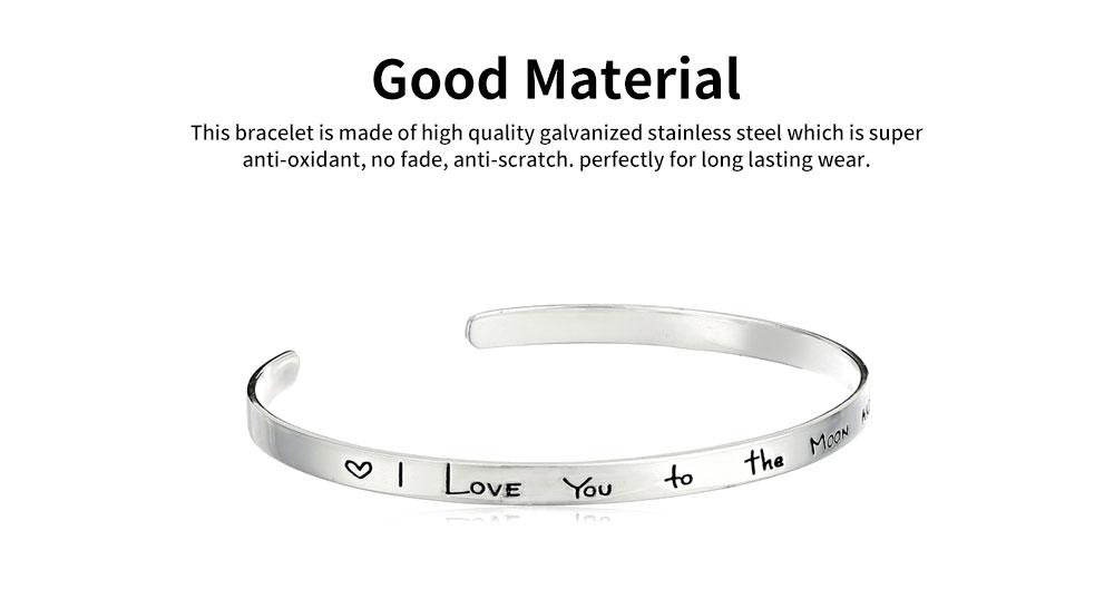 Elegant Lover Bracelets Valentines Gift For Girlfriend, Lady Heat Shape Crystal Mesh Plated Stainless Steel Women Bracelet 4