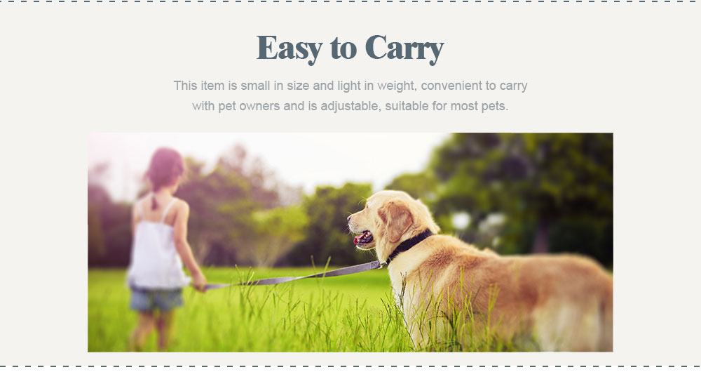 Hauling Cable for Pets, Innoxious and Stretchable Small-sized Polyamide Tow Rope, Auto Scaling Pulling Bandlet 4
