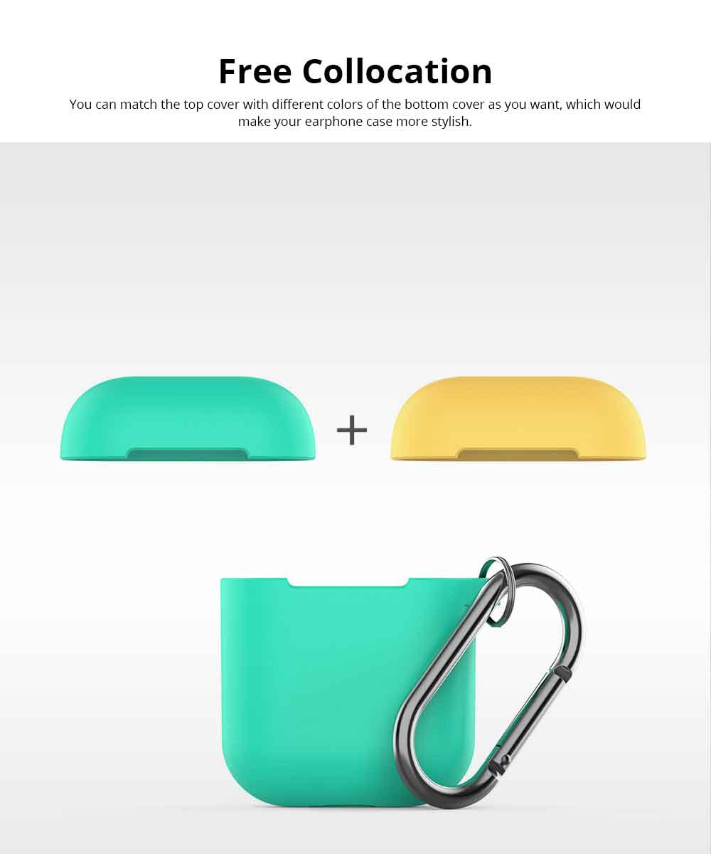 Free Collocation Silicone Carrying Case Cover For Airpods, Shockproof Smooth Skin Charging Sleeve Pouch Box 4