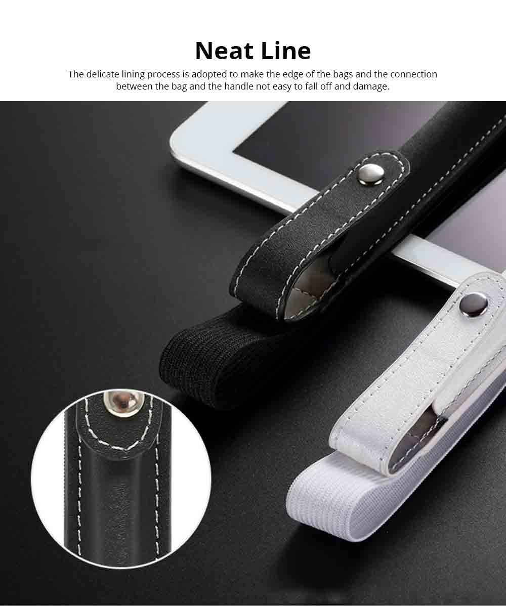 Portable Pen Full Case for Apple Pencil with Secure Button, Ultra-soft PU Leather Apple Pencil Protective Pouch with Elastic Band 6