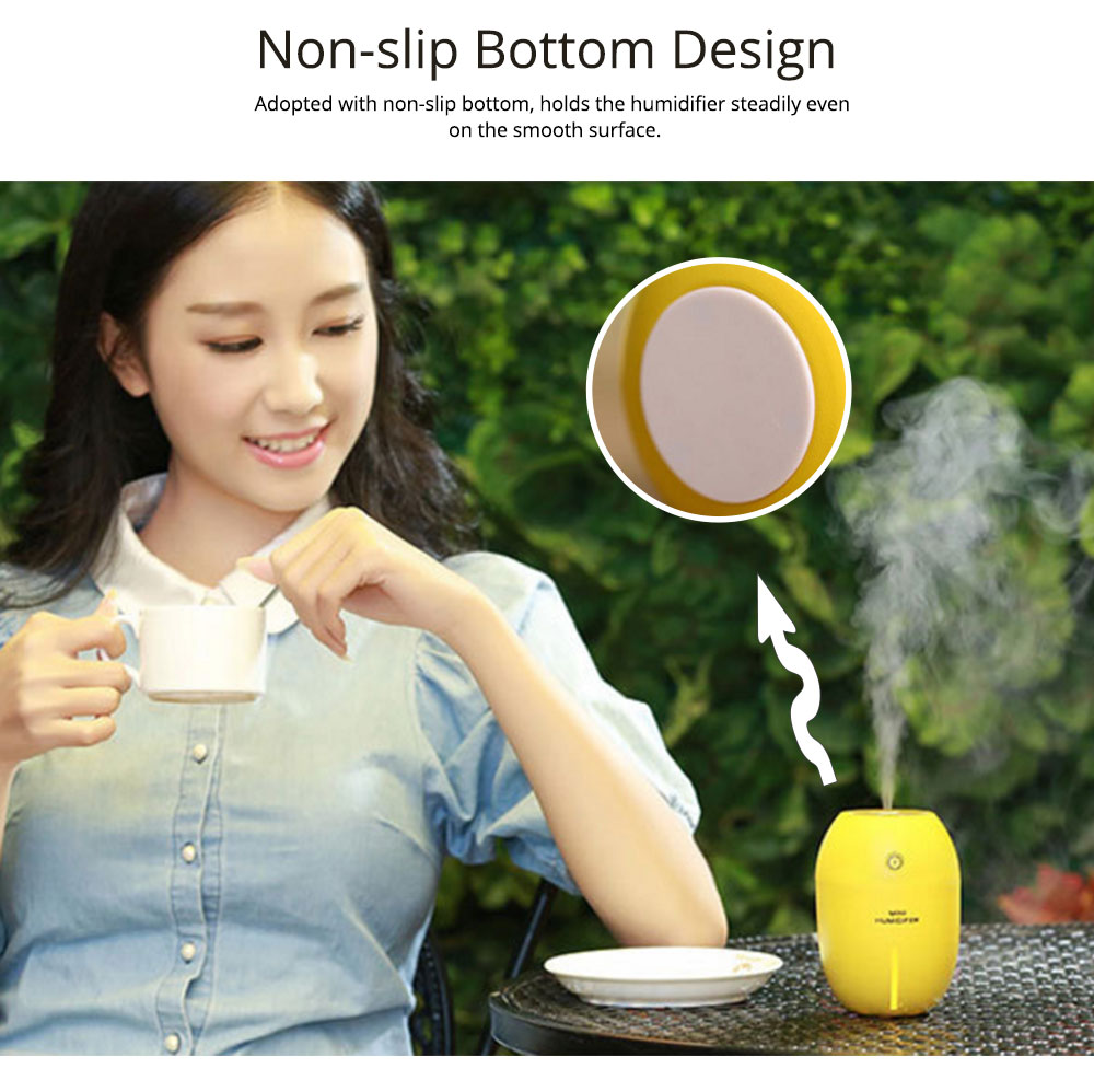 USB Oil Diffuser - Lemon LED Aroma Humidifier Air Aromatherapy - 4 Colors, 180ml 3