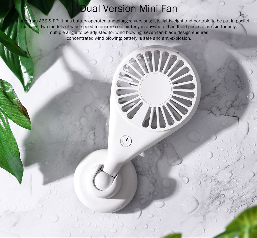 New-style Dual Version Mini Fan for Outdoor Plug In Portable Fan Handheld 2019 Rainbow Color Battery-Operated Nightlight Fan 0