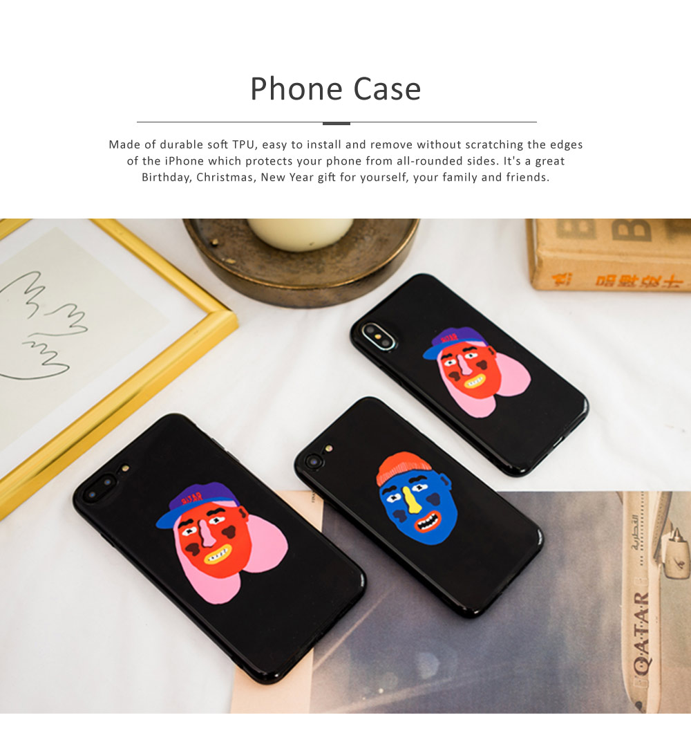 Full Body Protective Back Case Cover Soft TPU Phone Protector for iPhone 6, 6s, 6p, 6sp, 7, 7p, 8, 8p, x 0