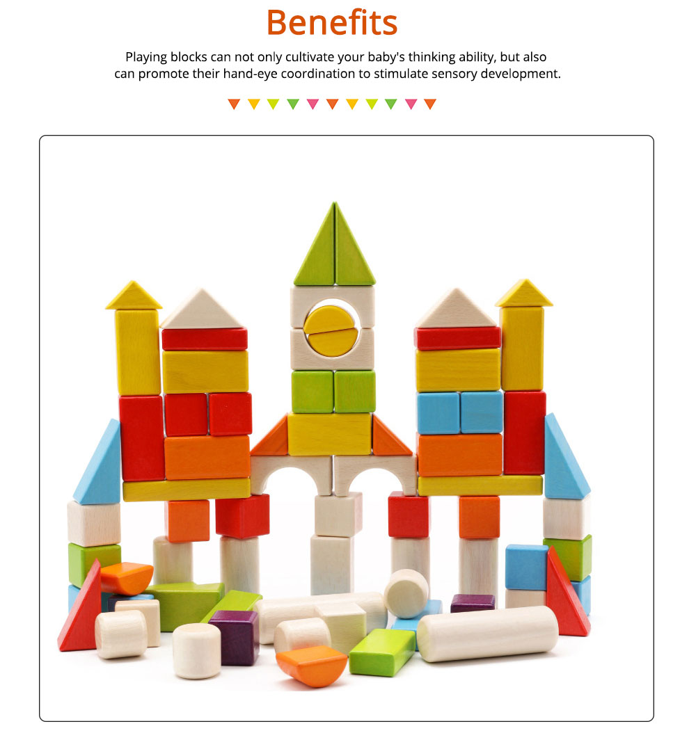 Wooden Toy Building Blocks, Colorful Amazing Big Particles Children Early Education Wooden Educational Building Blocks 3