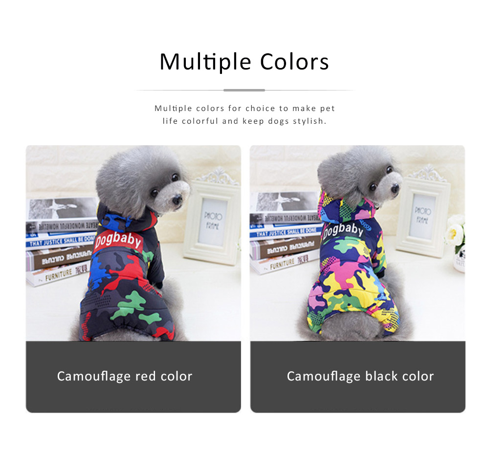 Camouflage Hoodie Four-legged New-style Cotton Clothes for Small Size Dogs Pet Clothes in Autumn and Winter Dog Clothes 3