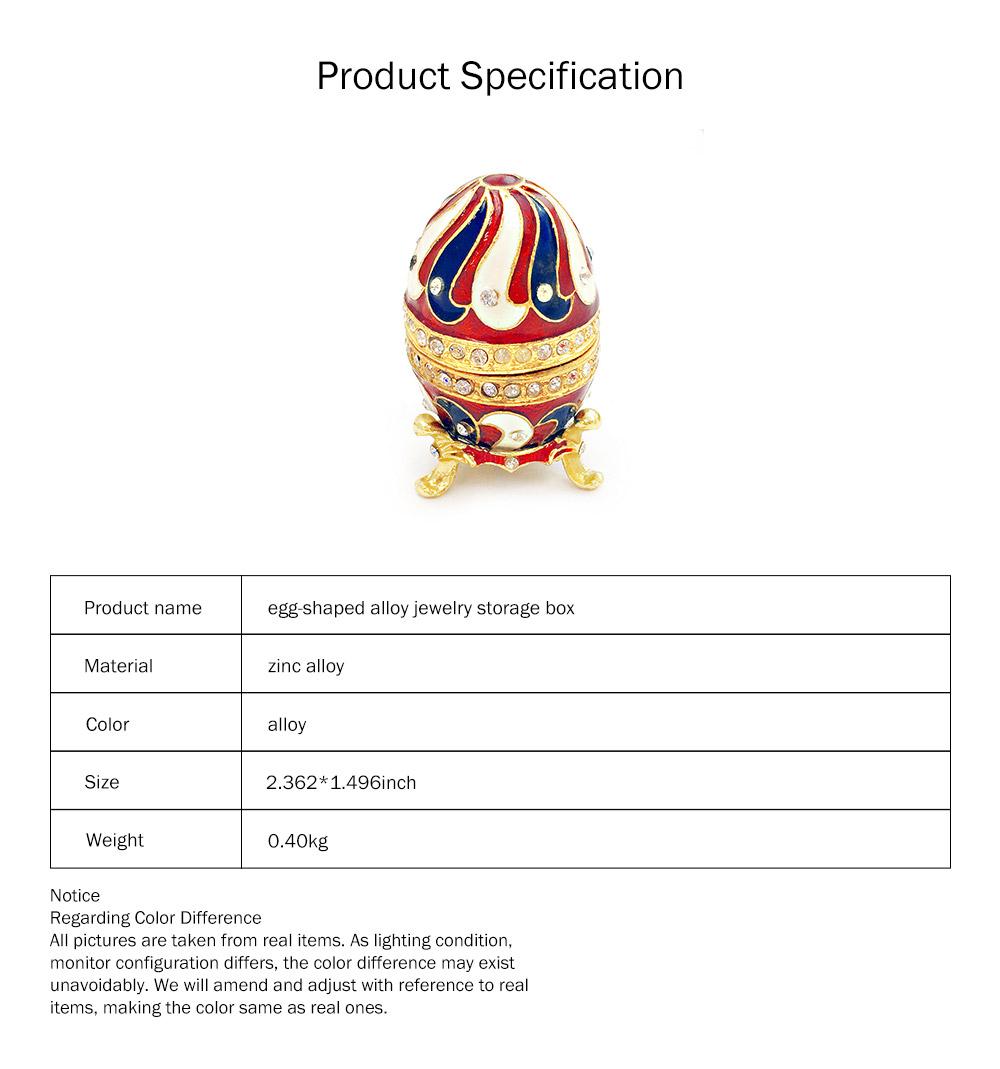 Alloy-made Decorative Egg Shaped Jewelry Box, Creative and Stylish Rhinestone Egg Jewelry Organizer 6