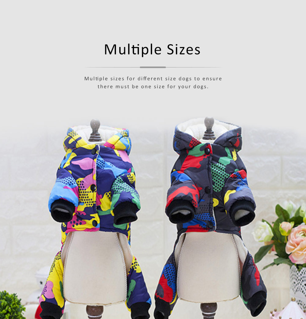 Camouflage Hoodie Four-legged New-style Cotton Clothes for Small Size Dogs Pet Clothes in Autumn and Winter Dog Clothes 4
