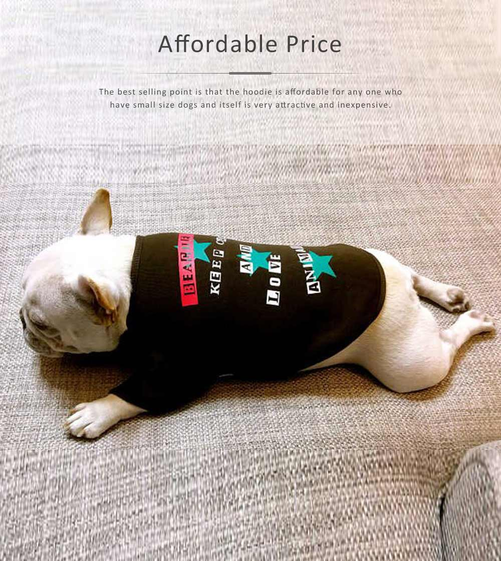 New-style Cotton Pet Hoodies for Small Size Dog with Velvet Printings Autumn and Winter Use Pet Dressings Hoodie 2019 5