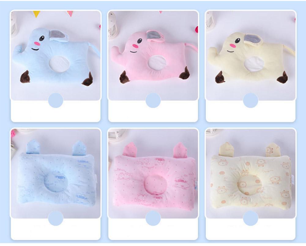 Flat Head Baby Pillows for Sleeping, Cartoon Adjusted Baby Pillow for Newborn Prevent Flat Head 10