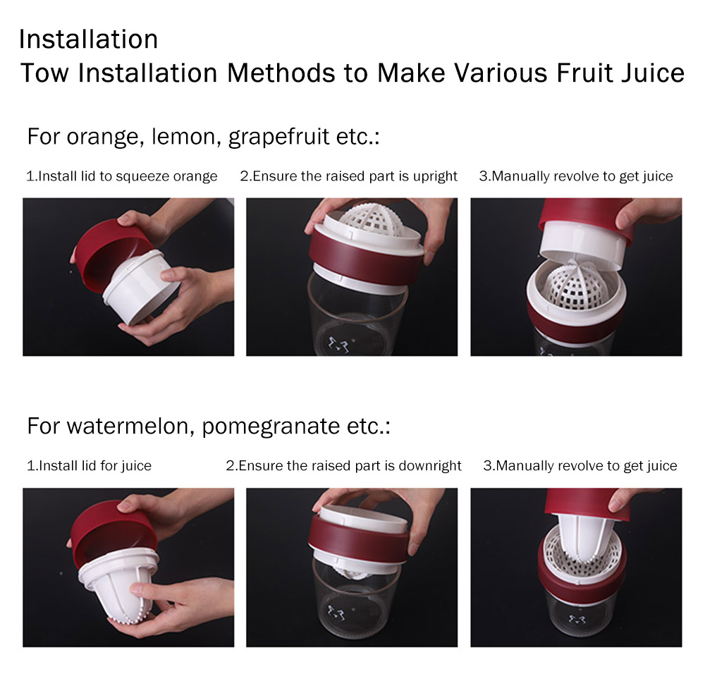 Multifunctional Manual Juice Extractor for Household Use, Small Size Simple Juice Extractors with Maximum Nutritional Value Manual Juicer 9
