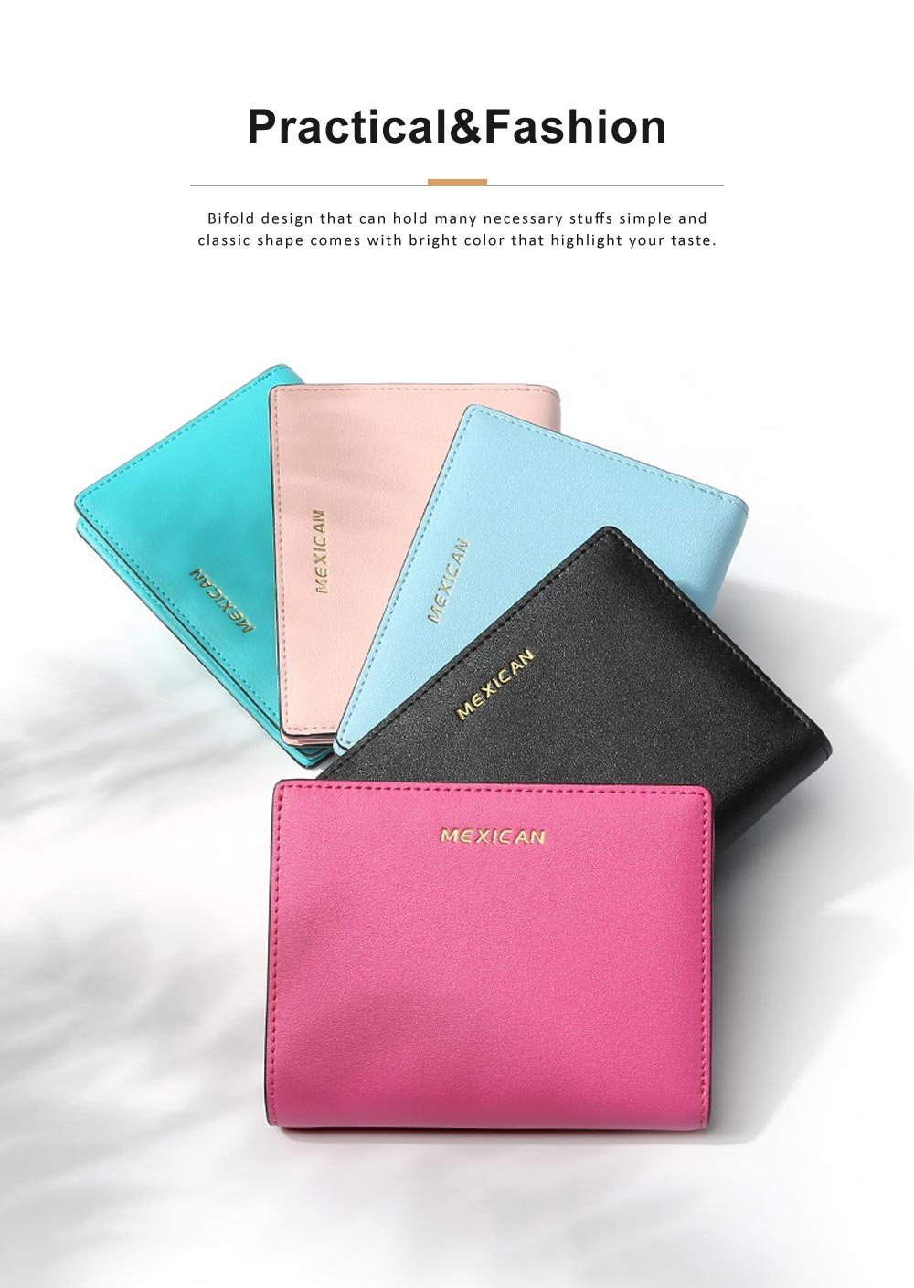 Women Purse Small Leather Pocket Purse Ladies Mini Short Purse Slim Bifold Retro Money Clip Gifts for Women 1