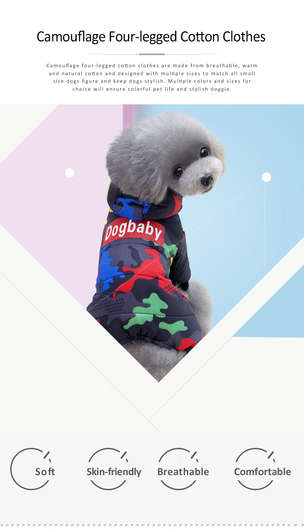 Camouflage Hoodie Four-legged New-style Cotton Clothes for Small Size Dogs Pet Clothes in Autumn and Winter Dog Clothes 0