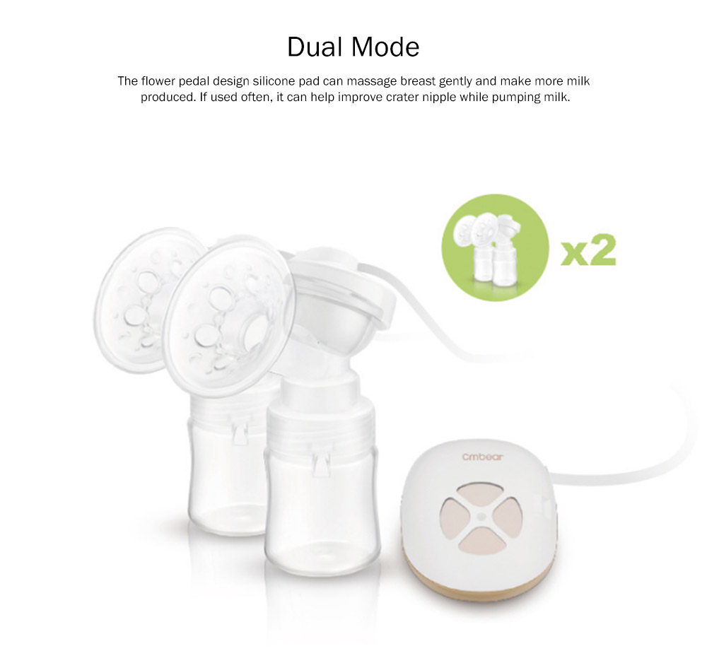 Advanced Automatic Electric Breast Pump, Portable White Breast Pump Bra, Hands Free Ultra-Quiet Single Breastfeeding Pump 7