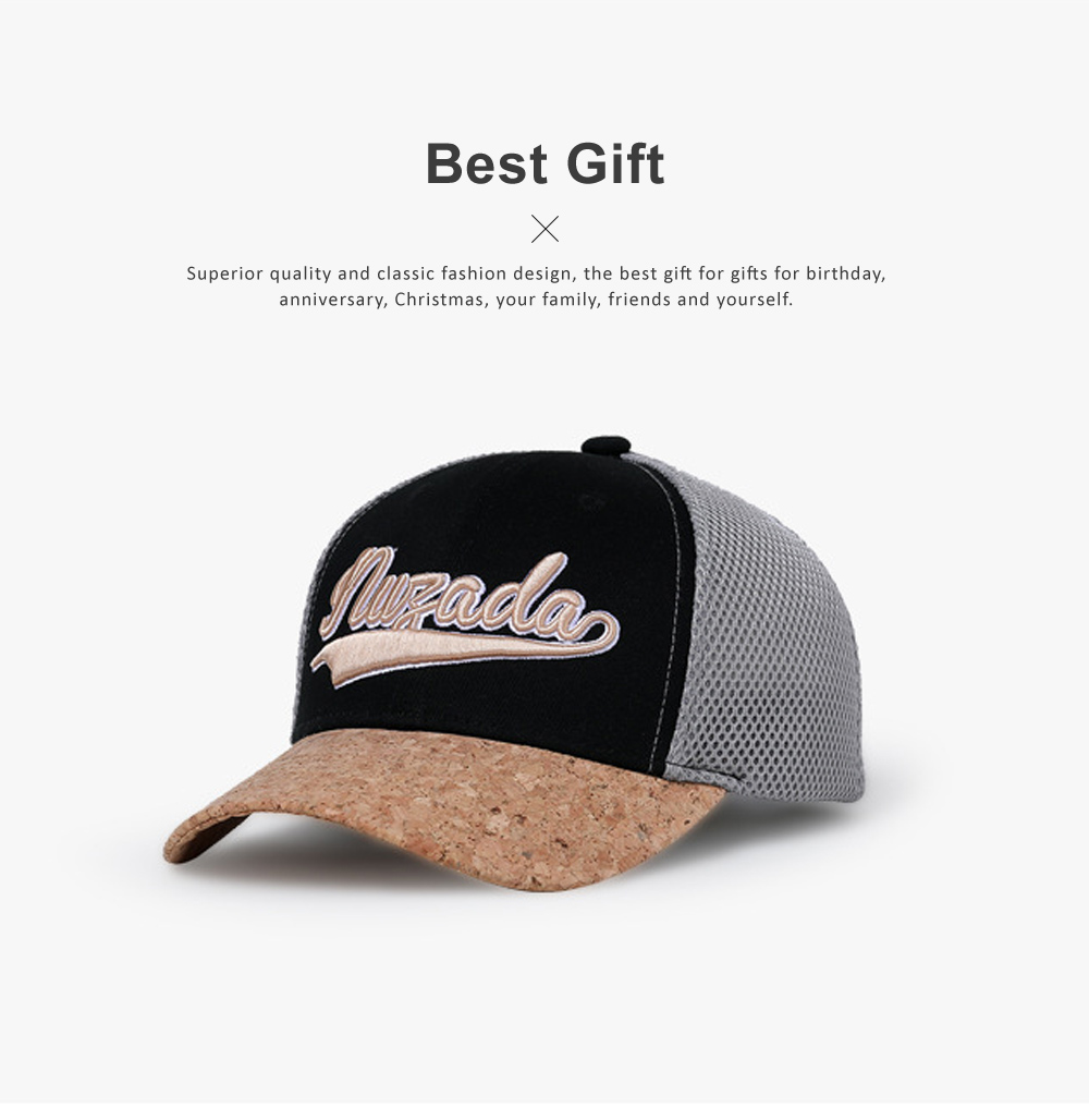 Snapback Hip Hop Baseball Caps, Unisex Letter Embroidered Mesh Cotton Breathable Trucker Hat for Gifts 4