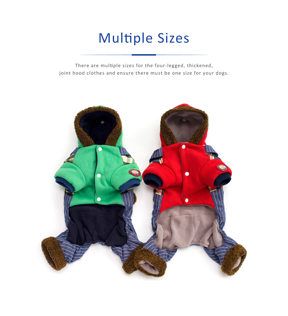 Thickened, Joint, Four-legged Dog Hood Clothes for Teddy Dog Clothes New Style EXW Wholesale Teddy Clothes 3