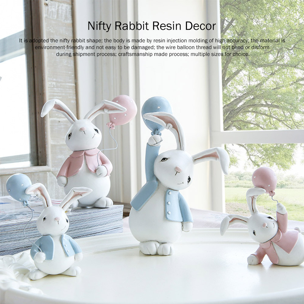 Nifty Rabbit Resin Decor as Gift for Friends, Birthday, Weddings Resin Decoration Sheets 0