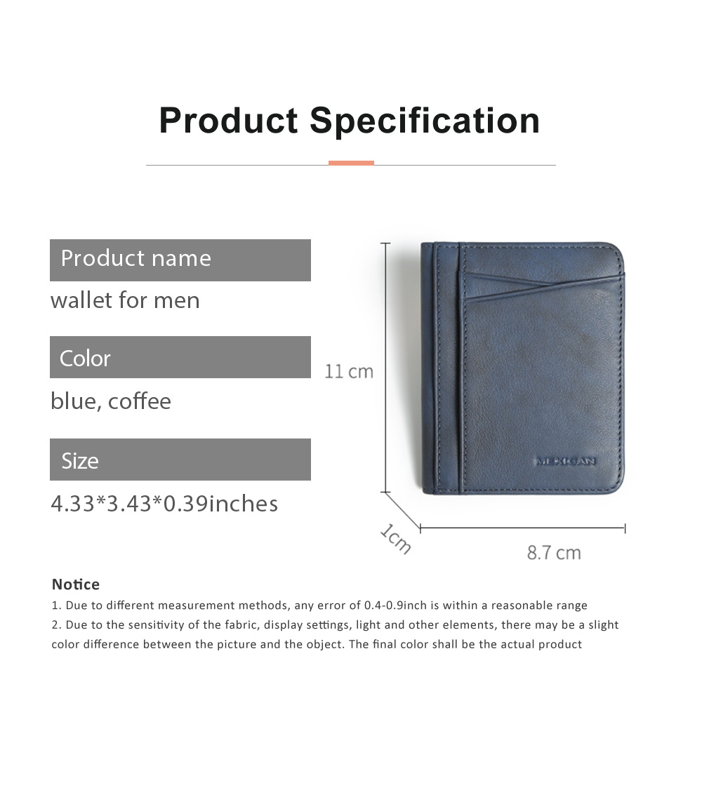 Men's Wallet Genuine Cowhide Leather Extra Capacity Bifold Wallets Slim Top Flip Money Clip Gifts for Men 6