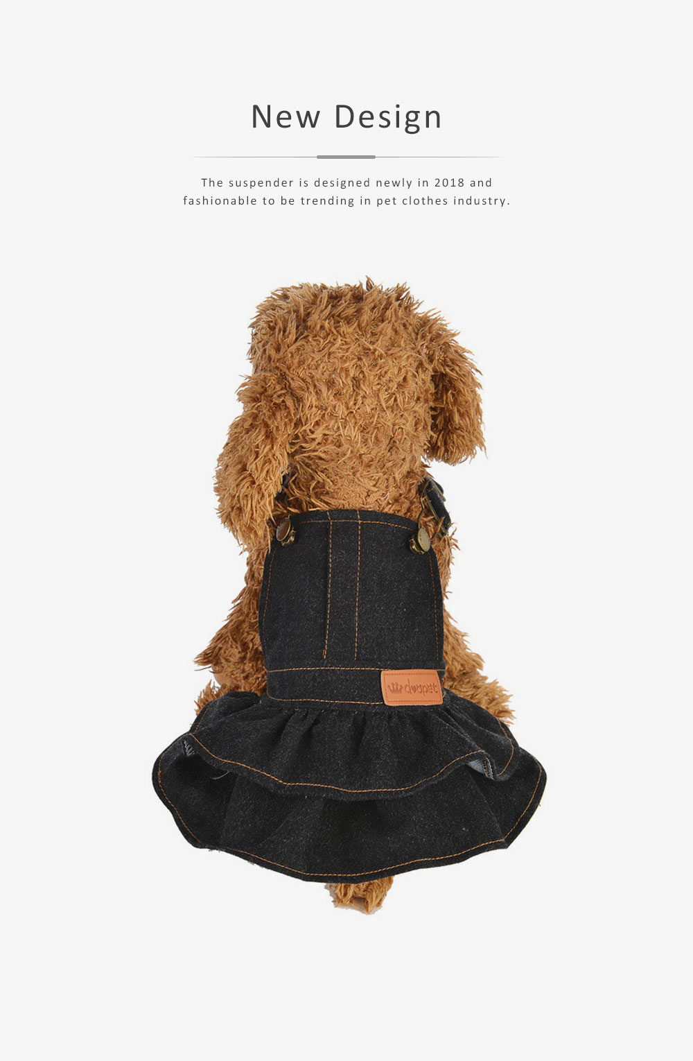 Jeans Suspender Skirt for Dogs New-style Pet Clothes in 2019 Used During Autumn and Winter Dog Clothes 2