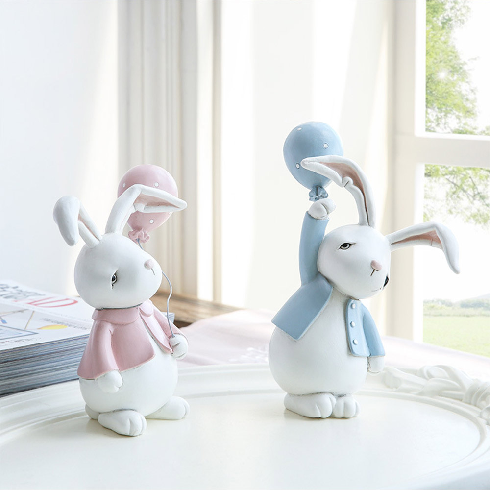 Nifty Rabbit Resin Decor as Gift for Friends, Birthday, Weddings Resin Decoration Sheets 2