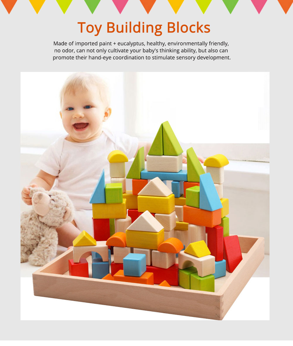 Wooden Toy Building Blocks, Colorful Amazing Big Particles Children Early Education Wooden Educational Building Blocks 0