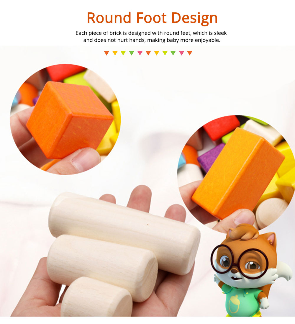 Wooden Toy Building Blocks, Colorful Amazing Big Particles Children Early Education Wooden Educational Building Blocks 5